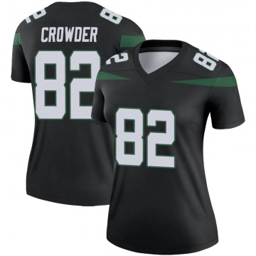 Women's Nike New York Jets Jamison Crowder Stealth Black Color Rush Jersey - Legend
