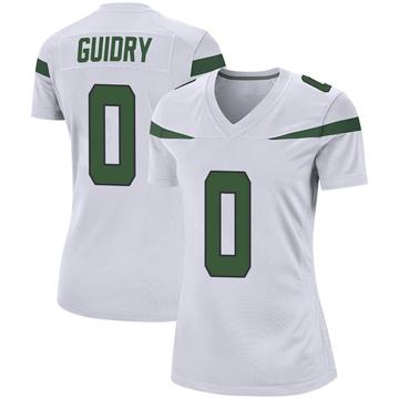 Women's Nike New York Jets Javelin Guidry Spotlight White Jersey - Game