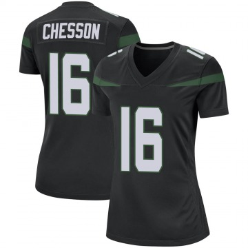 Women's Nike New York Jets Jehu Chesson Stealth Black Jersey - Game