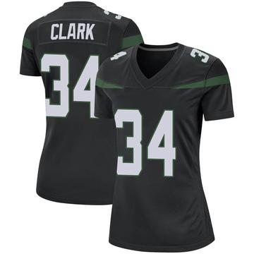 Women's Nike New York Jets Jeremy Clark Stealth Black Jersey - Game