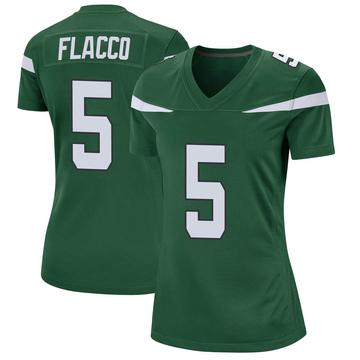 Women's Nike New York Jets Joe Flacco Gotham Green Jersey - Game