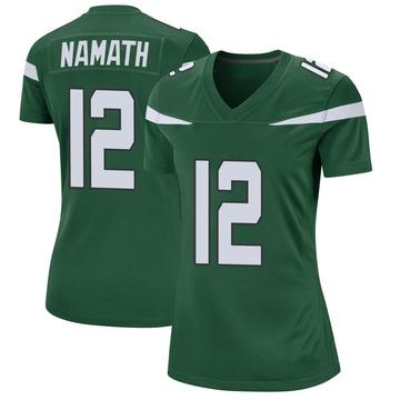 Women's Nike New York Jets Joe Namath Gotham Green Jersey - Game