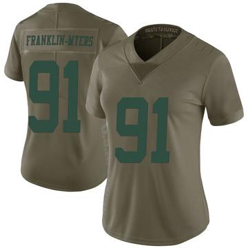 Women's Nike New York Jets John Franklin-Myers Green 2017 Salute to Service Jersey - Limited