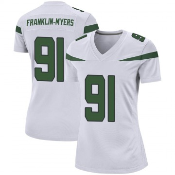Women's Nike New York Jets John Franklin-Myers Spotlight White Jersey - Game