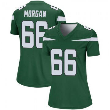 Women's Nike New York Jets Jordan Morgan Gotham Green Player Jersey - Legend