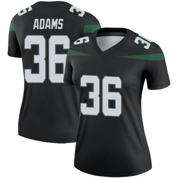 Women's Nike New York Jets Josh Adams Stealth Black Color Rush Jersey - Legend