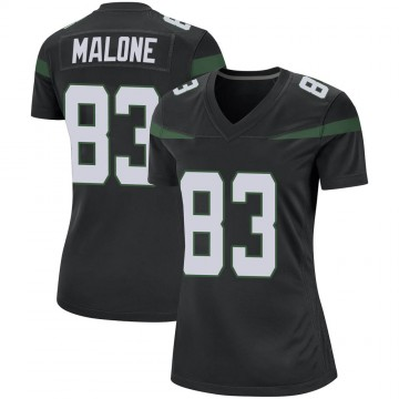 Women's Nike New York Jets Josh Malone Stealth Black Jersey - Game