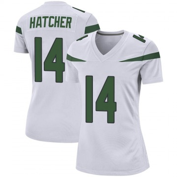 Women's Nike New York Jets Keon Hatcher Spotlight White Jersey - Game