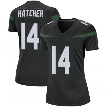 Women's Nike New York Jets Keon Hatcher Stealth Black Jersey - Game