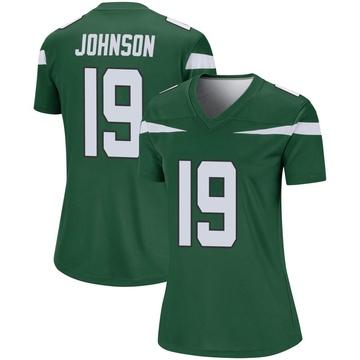 Women's Nike New York Jets Keyshawn Johnson Gotham Green Player Jersey - Legend