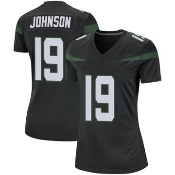 Women's Nike New York Jets Keyshawn Johnson Stealth Black Jersey - Game
