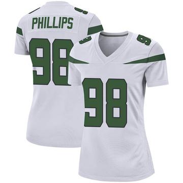 Women's Nike New York Jets Kyle Phillips Spotlight White Jersey - Game