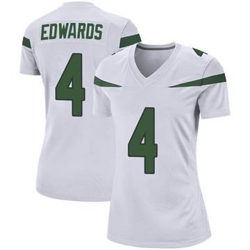 Women's Nike New York Jets Lachlan Edwards Spotlight White Jersey - Game