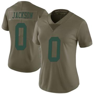 Women's Nike New York Jets Lamar Jackson Green 2017 Salute to Service Jersey - Limited