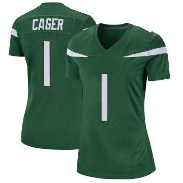 Women's Nike New York Jets Lawrence Cager Gotham Green Jersey - Game