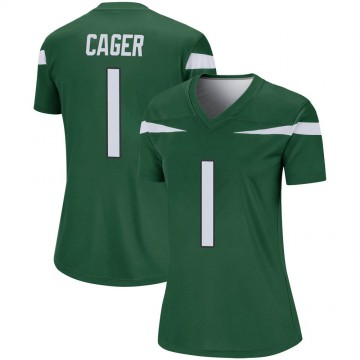 Women's Nike New York Jets Lawrence Cager Gotham Green Player Jersey - Legend