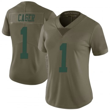 Women's Nike New York Jets Lawrence Cager Green 2017 Salute to Service Jersey - Limited