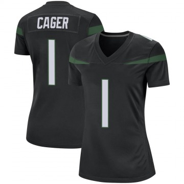 Women's Nike New York Jets Lawrence Cager Stealth Black Jersey - Game