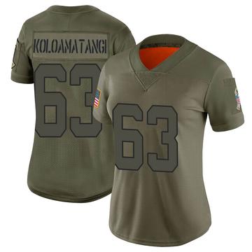 Women's Nike New York Jets Leo Koloamatangi Camo 2019 Salute to Service Jersey - Limited