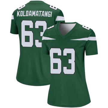 Women's Nike New York Jets Leo Koloamatangi Gotham Green Player Jersey - Legend