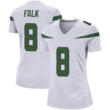 Women's Nike New York Jets Luke Falk Spotlight White Jersey - Game