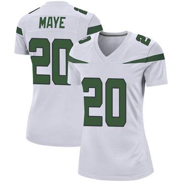 Women's Nike New York Jets Marcus Maye Spotlight White Jersey - Game