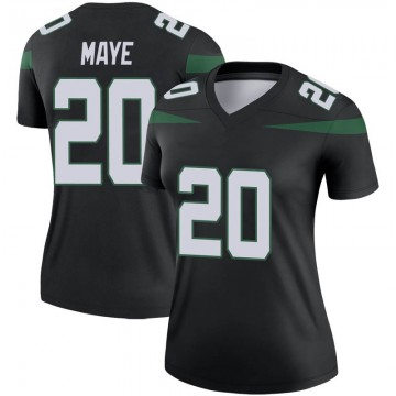 Women's Nike New York Jets Marcus Maye Stealth Black Color Rush Jersey - Legend