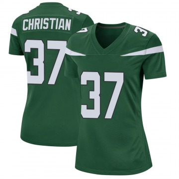 Women's Nike New York Jets Marqui Christian Gotham Green Jersey - Game