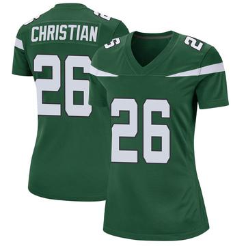 Women's Nike New York Jets Marqui Christian Gotham Green Jersey - Game