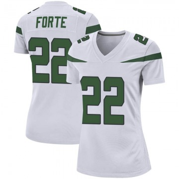Women's Nike New York Jets Matt Forte Spotlight White Jersey - Game
