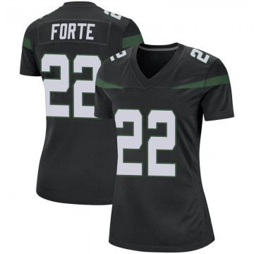 Women's Nike New York Jets Matt Forte Stealth Black Jersey - Game