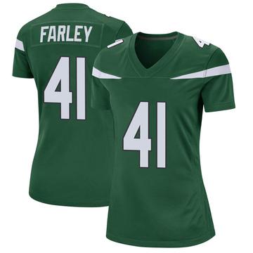 Women's Nike New York Jets Matthias Farley Gotham Green Jersey - Game