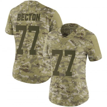 Women's Nike New York Jets Mekhi Becton Camo 2018 Salute to Service Jersey - Limited