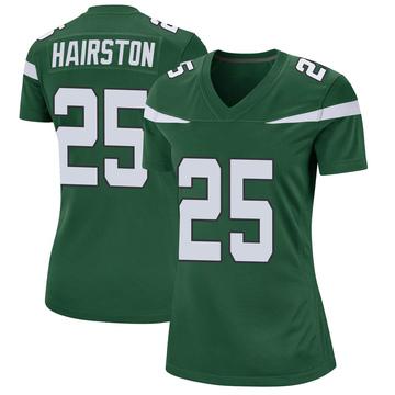 Women's Nike New York Jets Nate Hairston Gotham Green Jersey - Game