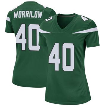 Women's Nike New York Jets Paul Worrilow Gotham Green Jersey - Game