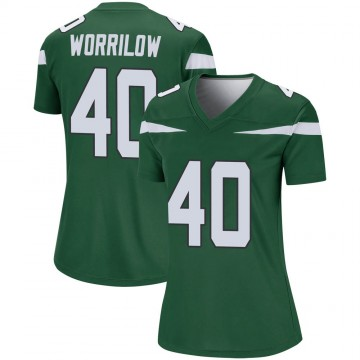 Women's Nike New York Jets Paul Worrilow Gotham Green Player Jersey - Legend