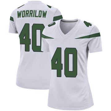 Women's Nike New York Jets Paul Worrilow Spotlight White Jersey - Game