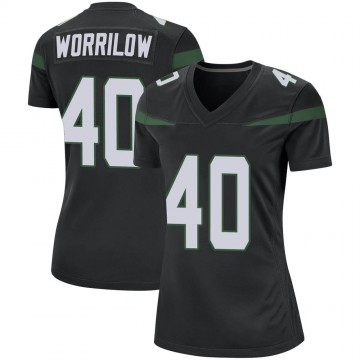 Women's Nike New York Jets Paul Worrilow Stealth Black Jersey - Game