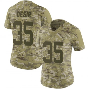 Women's Nike New York Jets Pierre Desir Camo 2018 Salute to Service Jersey - Limited