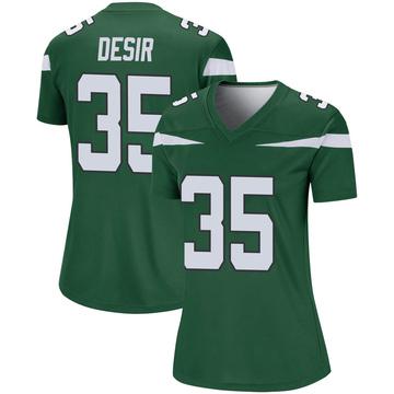 Women's Nike New York Jets Pierre Desir Gotham Green Player Jersey - Legend