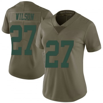 Women's New York Jets Quincy Wilson Green 2017 Salute to Service Jersey - Limited