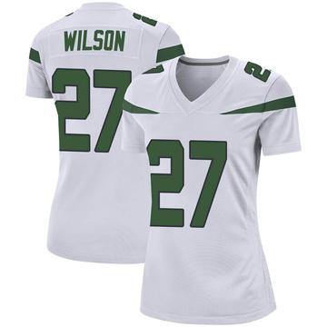 Women's Nike New York Jets Quincy Wilson Spotlight White Jersey - Game