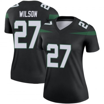 Women's Nike New York Jets Quincy Wilson Stealth Black Color Rush Jersey - Legend