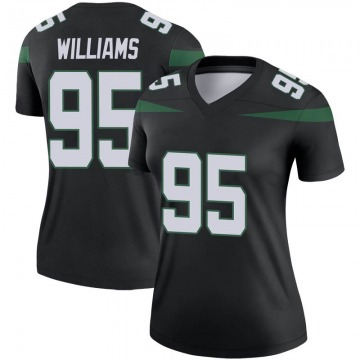 Women's Nike New York Jets Quinnen Williams Stealth Black Color Rush Jersey - Legend