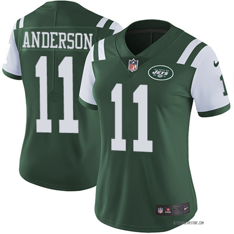 pretty nice e9d3e 86170 Women's Nike New York Jets Robby Anderson Green Team Color Jersey - Limited