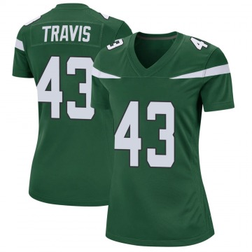 Women's Nike New York Jets Ross Travis Gotham Green Jersey - Game
