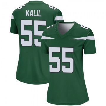 Women's Nike New York Jets Ryan Kalil Gotham Green Player Jersey - Legend