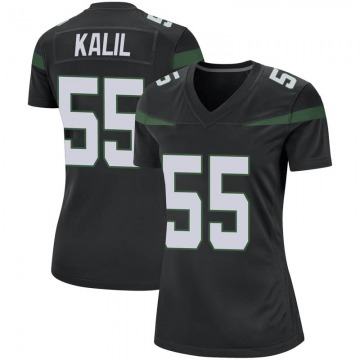Women's Nike New York Jets Ryan Kalil Stealth Black Jersey - Game