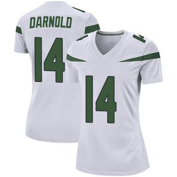 Women's Nike New York Jets Sam Darnold Spotlight White Jersey - Game
