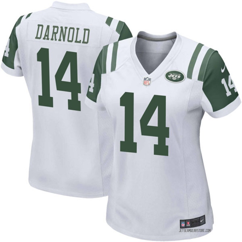 buy online 3fc19 da5d1 Women's Nike New York Jets Sam Darnold White Jersey - Game